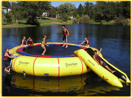 Inflatable Trampolines Water Trampoline Or Bouncer And